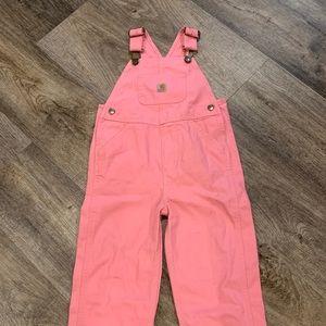 Carhartt pink overalls